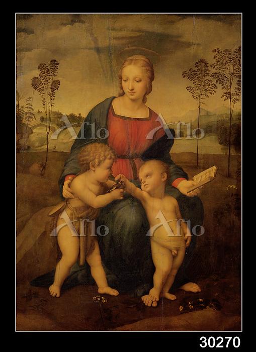 ラファエロ 「ひわの聖母」(修復前)