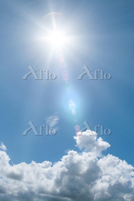 日ざしと湧き立つ入道雲