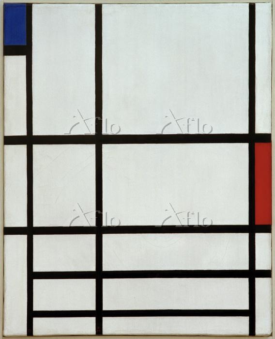 モンドリアン 「赤、青、白のコンポジションⅡ」
