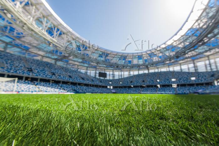 スタジアムの芝生