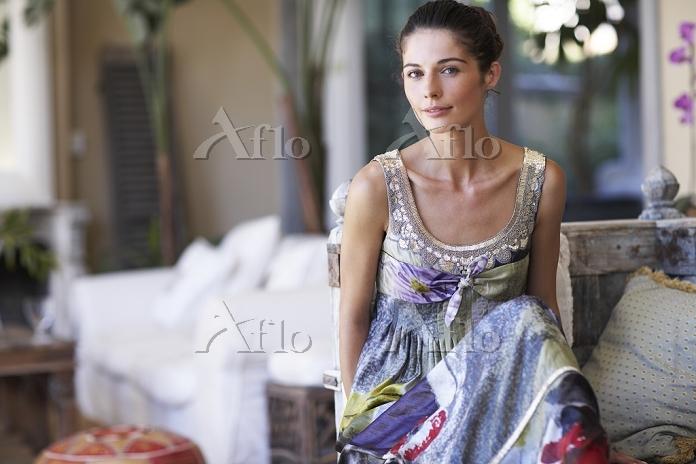 肌のきれいな外国人女性