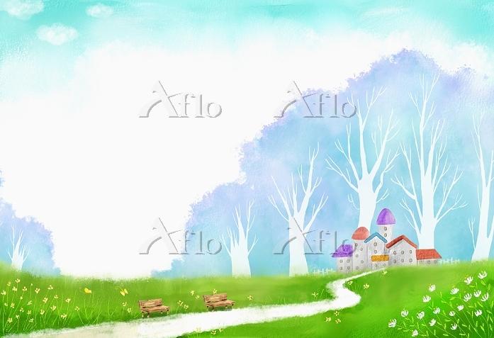 an illustration of a village i・・・