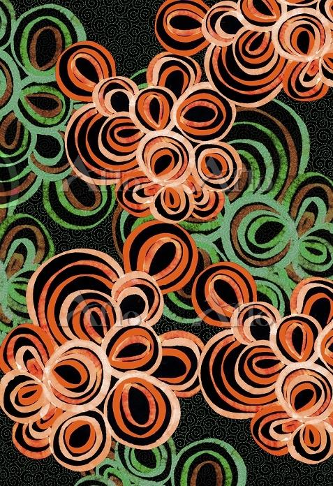 Abstract orange and green circ・・・