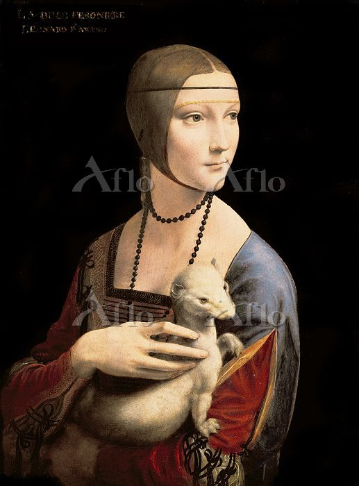 レオナルド・ダ・ヴィンチ 「白貂を抱く貴婦人」