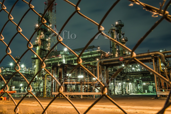 堺泉北臨海工業地帯 工場夜景