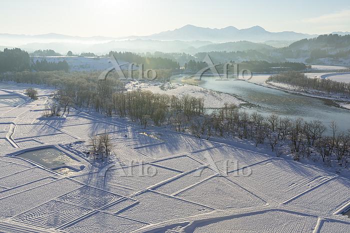 雪の越後三山