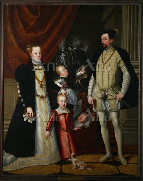 アルチンボルド 「皇帝マクシミリアン二世と家族の肖像」