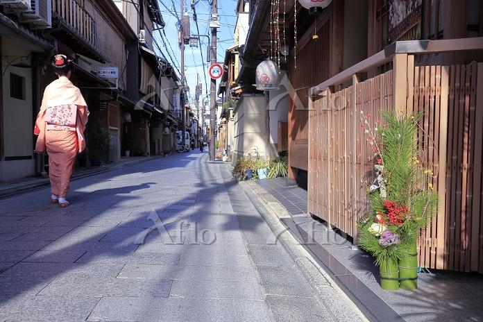 京都府 お正月の宮川町
