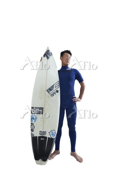 サーフィンの選手