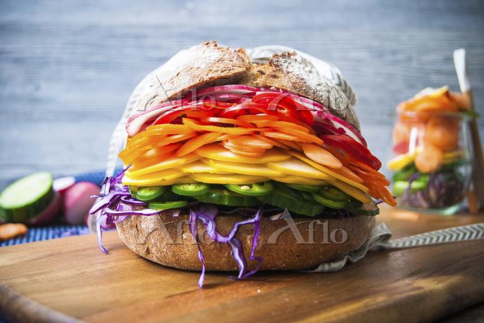 カラフルなサンドイッチ