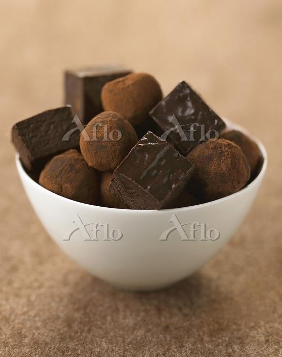 チョコレートトリュフとプラリネ