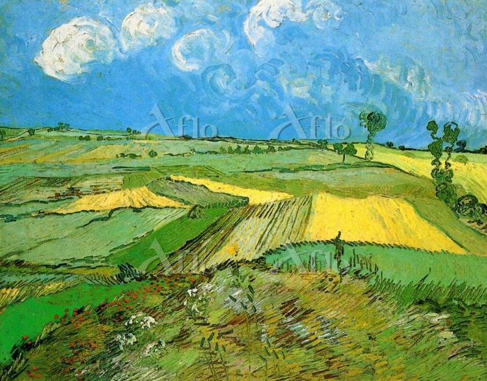 ゴッホ 「雨雲のあるオーヴェールの麦畑」