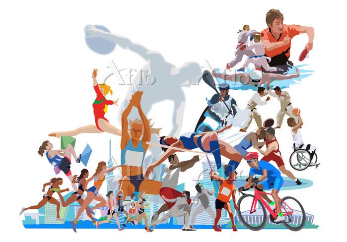ポップな街とオリンピックスポーツ2