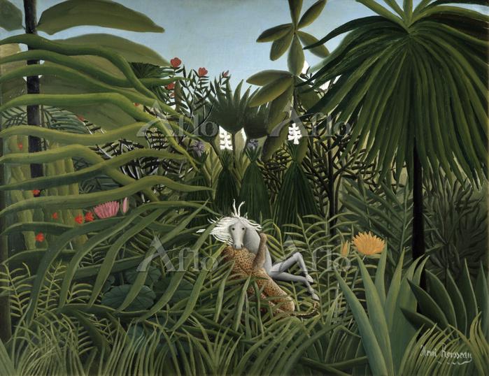 アンリ・ルソー 「馬を襲うジャガー」