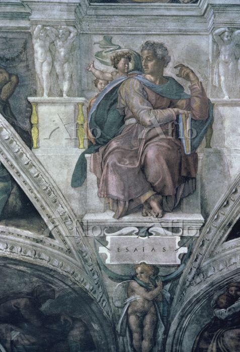 ミケランジェロ 「システィーナ礼拝堂天井画(預言者イザヤ)」