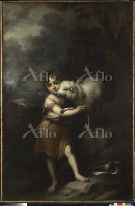 バルトロメ・エステバン・ムリーリョ「幼い洗礼者聖ヨハネと子羊・・・