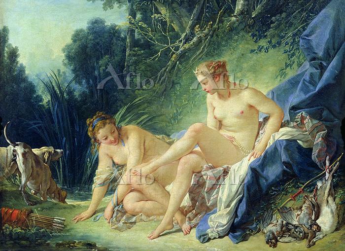 フランソワ・ブーシェ 「ディアナの水浴」