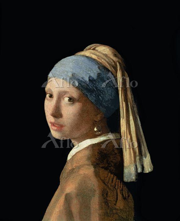 フェルメール  「真珠の耳飾りの少女(青いターバンの娘) 」・・・