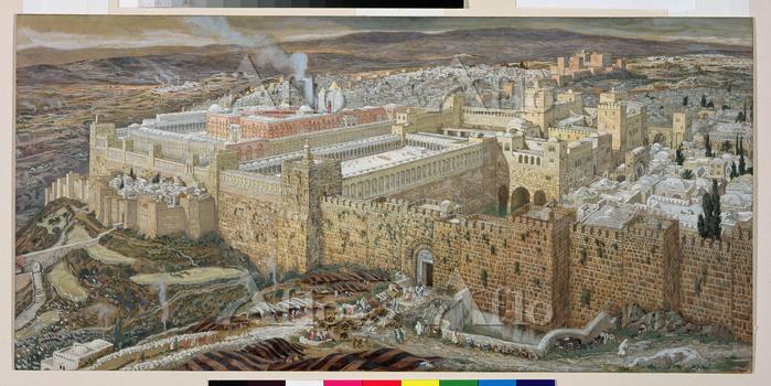 ジェームズ・ティソ 「エルサレムの再建とヘロデ神殿」