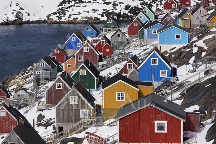 グリーンランド カラフルな家