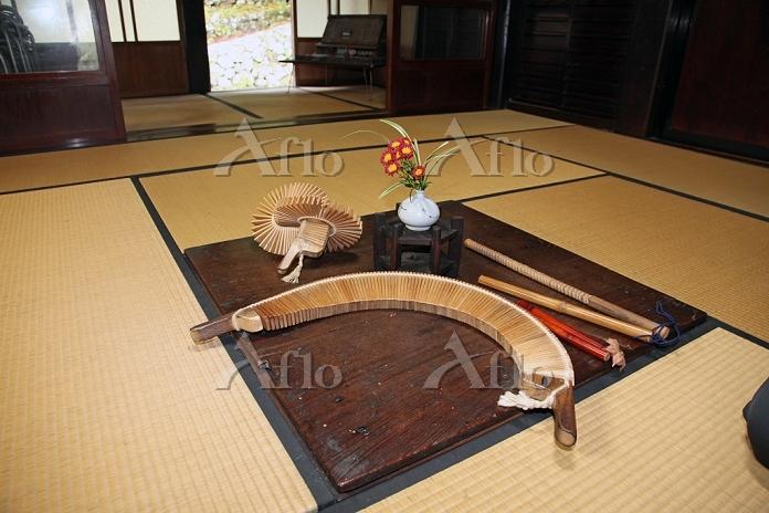 合掌造り 岩瀬家 ささらの展示 2012.11.06 富山県・・・