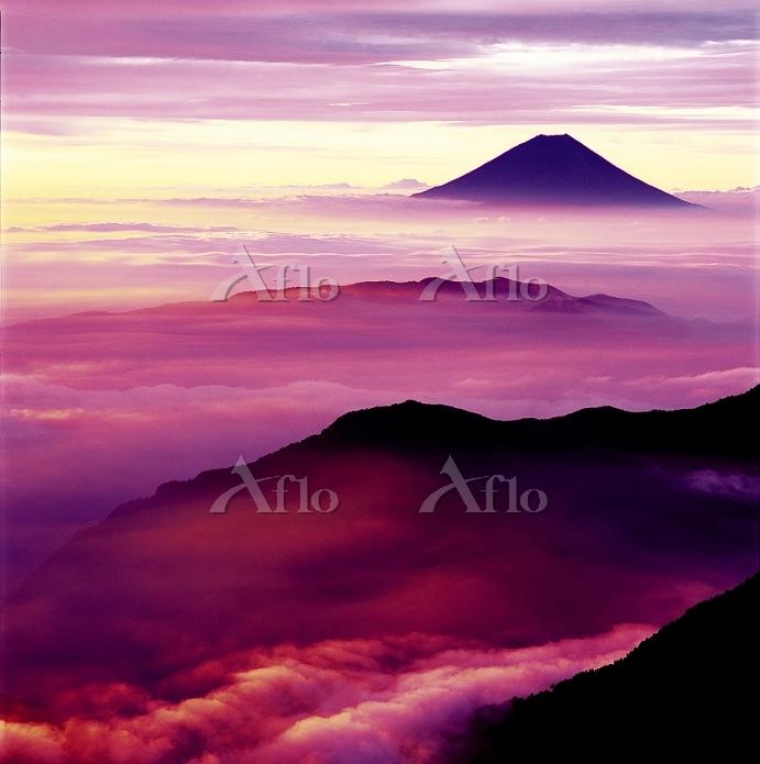 山梨県 富士山 南アルプス北岳から