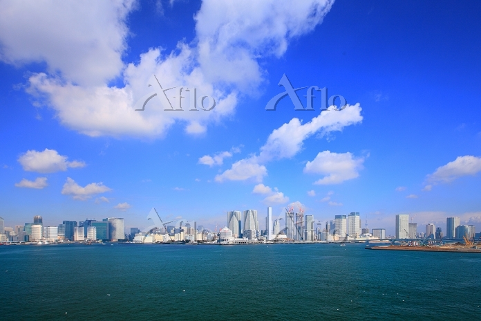 東京都 お台場から湾岸のビル群