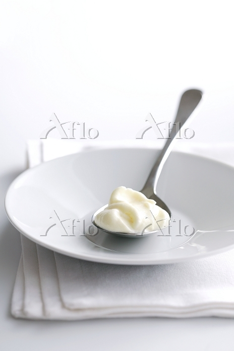 A spoonful of whipped cream