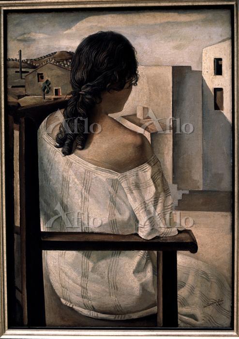 サルバドール・ダリ 「後ろ姿の女性」