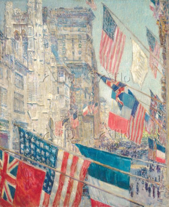 チャイルド・ハッサム「連合国の日、1917年5月」