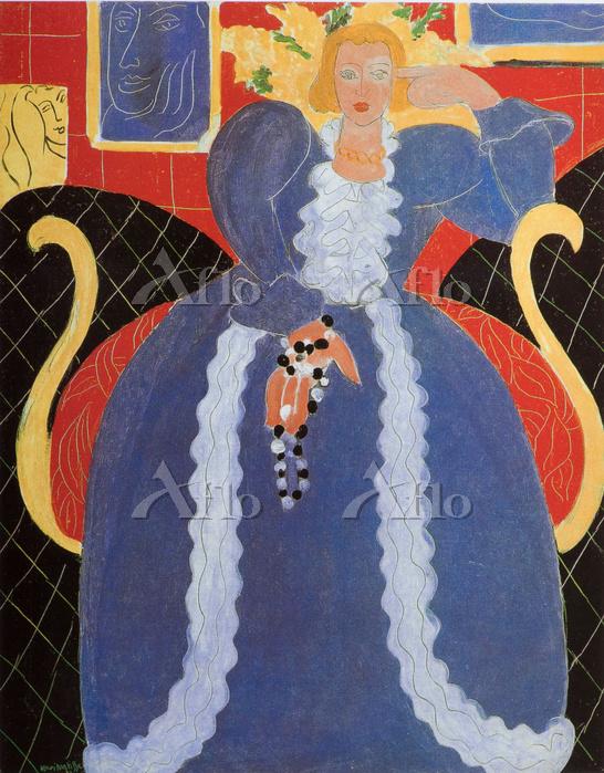 マティス 「青いドレスの女」