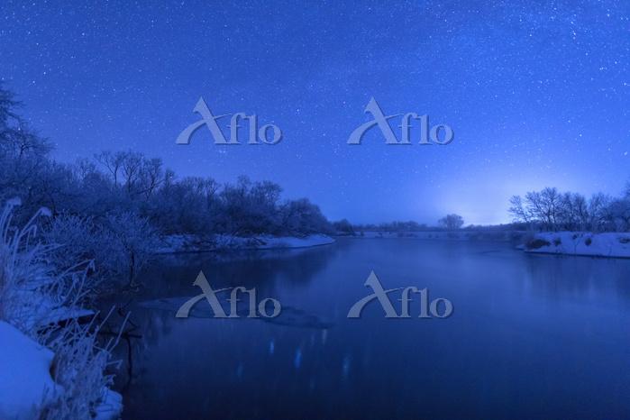 北海道 星空の釧路湿原