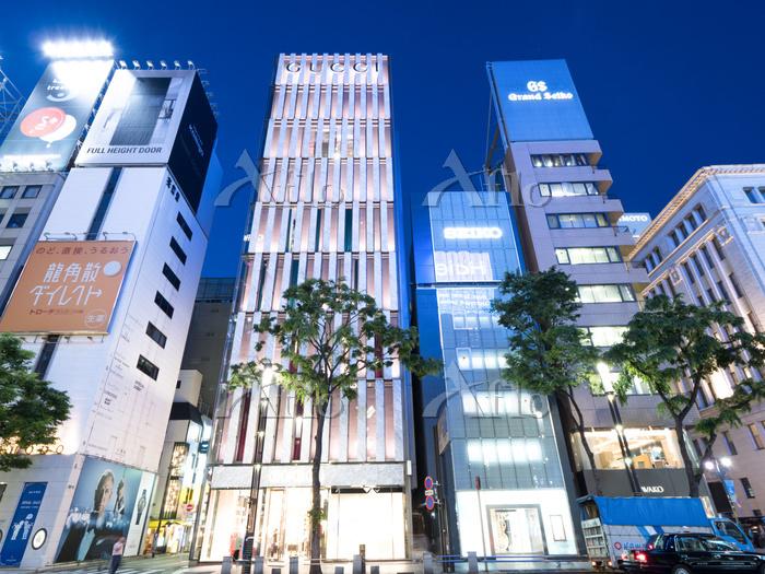 東京都 銀座の夜景