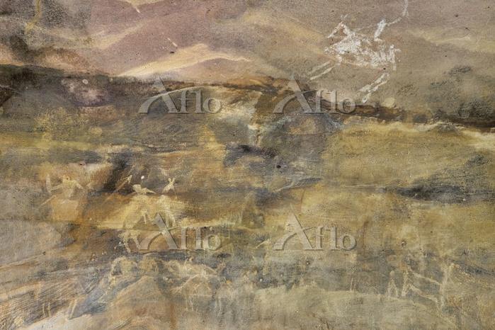 インド ビンベットカ 岩窟壁画 ロック・シェルター No.7