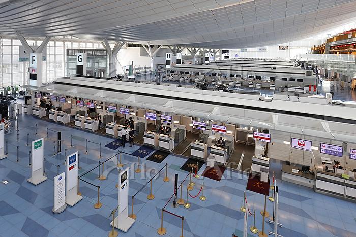 閑散とした羽田空港 第3空港(国際線)