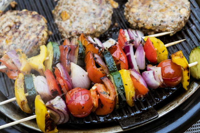 Food on a barbeque, vegetable ・・・