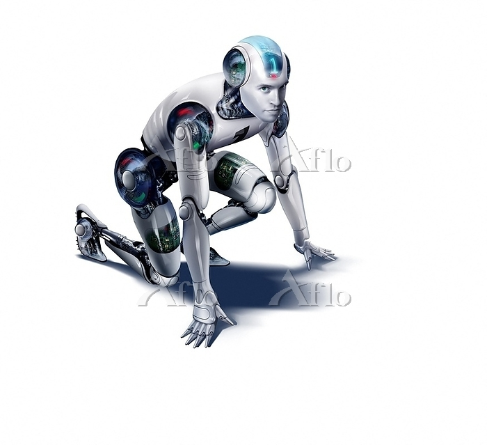 Illustration, robot, in starti・・・