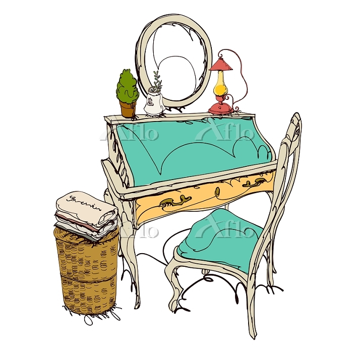 Dressing Table With Basket And・・・