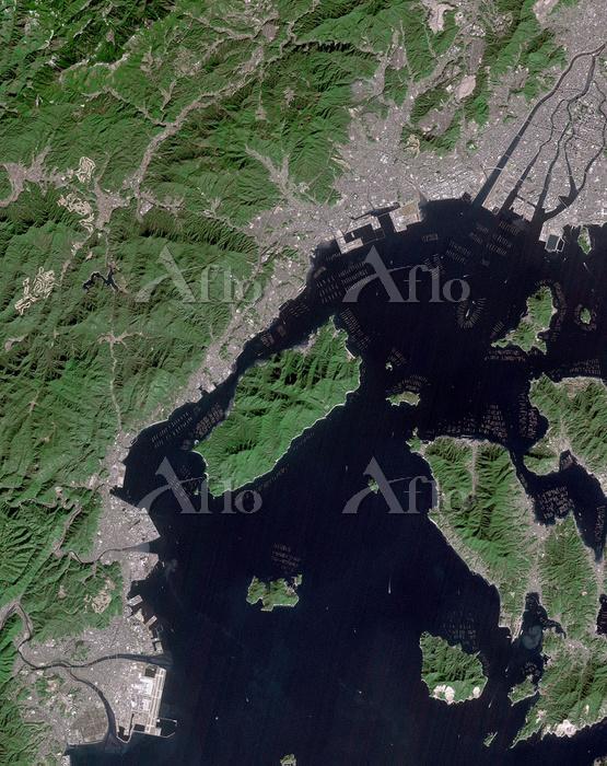衛星画像 宮島
