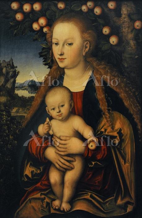 ルーカス・クラナハ(父) 「林檎の木の下の聖母子」