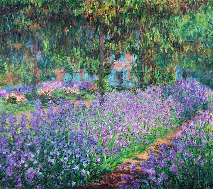 クロード・モネ  「ジベルニーのモネの庭、アイリス」