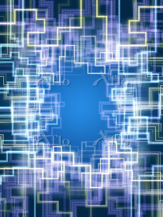 細かな回路を形成するデータ光線群