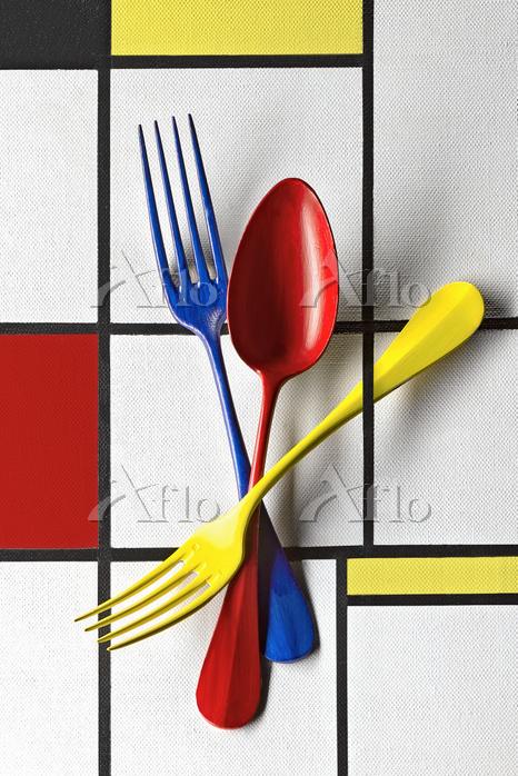 Food art: colourful cutlery (i・・・