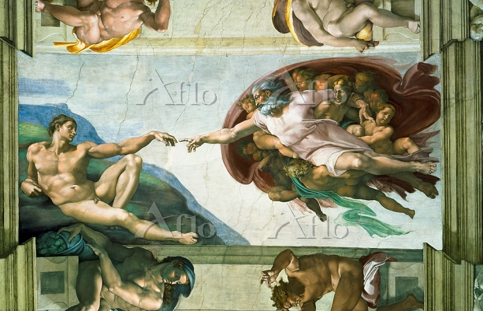 ミケランジェロ 「システィーナ礼拝堂天井画(アダムの創造)」