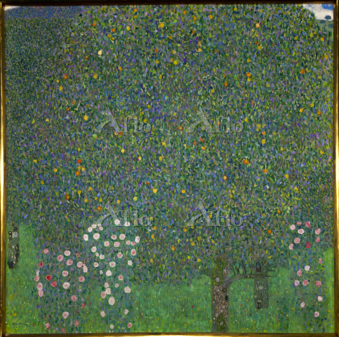 クリムト 「木々の下の薔薇」