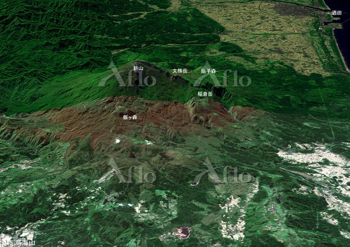 鳥海山とその周辺の山々 日本百名山 東北