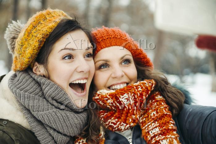 Two friends taking selfies in ・・・