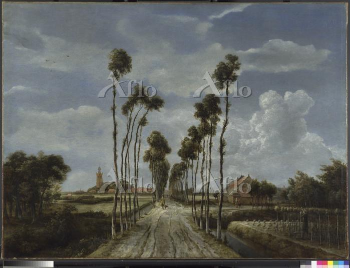 メインデルト・ホッベマ 「ミッデルハルニスの並木道」