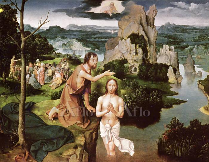 ヨアヒム・パティニール 「キリストの洗礼」