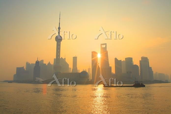中国 上海 ビル群